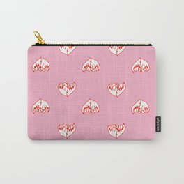 Best Friend Galentine's Day Pinky Promise Pattern in Pink Carry-All Pouch