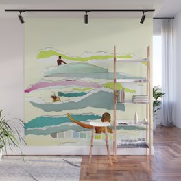 Sun and Surf Wall Mural
