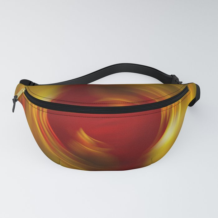 Abstract wavy motion blur background Fanny Pack