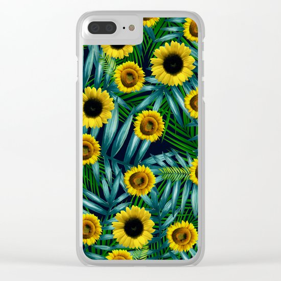 Sunflower Party #2 Clear iPhone Case