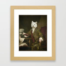 Portrait of a civilized Westie Framed Art Print