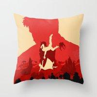 bioshock Throw Pillows featuring Bioshock Infinite by Bill Pyle