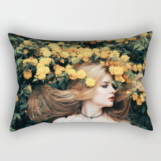 Floral girl Rectangular Pillow