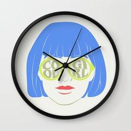 i'm a cool girl Wall Clock