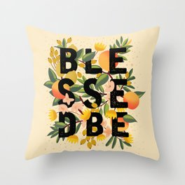 BLESSED BE LIGHT Throw Pillow