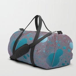 Ode for secret of teal and maroon Duffle Bag