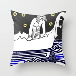 Warrior of the north Throw Pillow