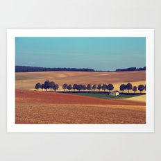 Lanscape Fields Art Print