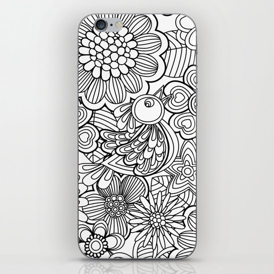 Welcome birds to..white. iPhone & iPod Skin