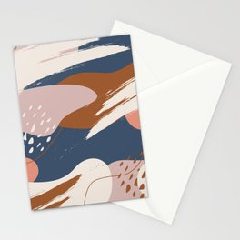 Abstract modern shapes 0-01 Stationery Cards
