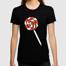 Red, white & blue lollipops pattern T-shirt
