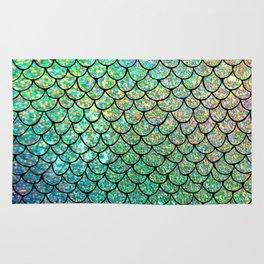 Colorful Glitter Mermaid Scales II Rug