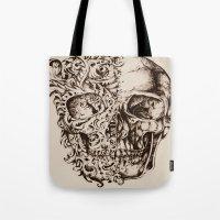 skeleton Tote Bags featuring Skeleton by ViviRajski