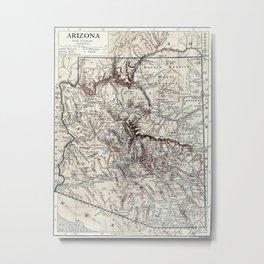 Vintage Map of Arizona (1911)  Metal Print