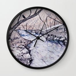 The waters of Nabia Wall Clock