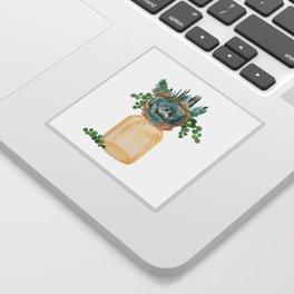Succulents in Mason Jar Sticker