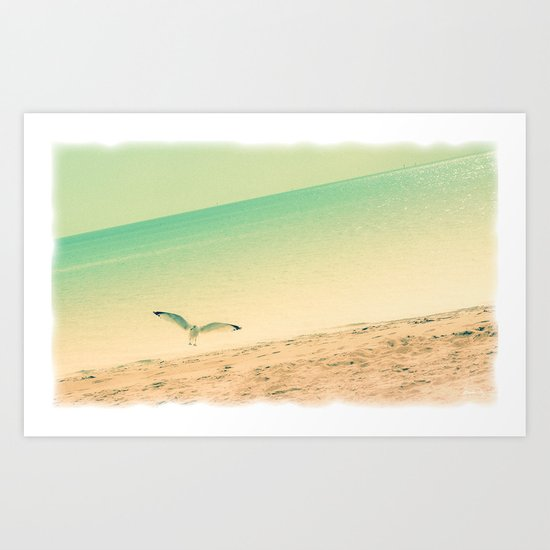 Beach is where I belong Art Print