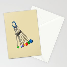 Rock Climbing Wires Stationery Cards