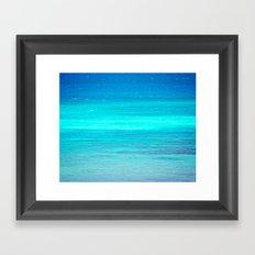 The Turquoise Sea Framed Art Print