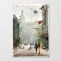 street art Canvas Prints featuring Street by Baris erdem