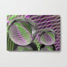 Crystal ball in plastic Metal Print
