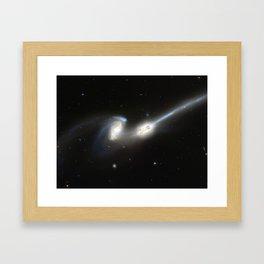 Galaxy merger Framed Art Print