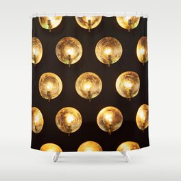 Decorative installation of incandescent lamps Shower Curtain