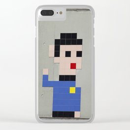 Spock Mosaic Clear iPhone Case