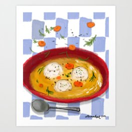 Matzo Ball Soup Art Print