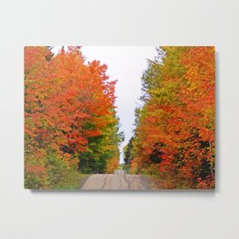 Rolling Through the Hills of Autumn Metal Print