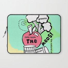 Toss the Meds by Rosalie - Zine Page Laptop Sleeve