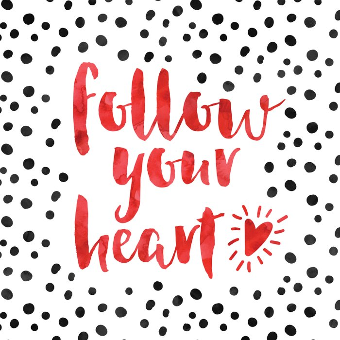 Follow Your Heart Quote Comforters