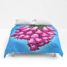 Pretty in Pink Bell Flowers Comforters