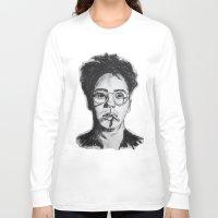 robert downey jr Long Sleeve T-shirts featuring Robert Downey Jr. by Haley Erin