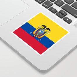Flag of Ecuador -ecuadorian,Inca,Kichwa,Quito,america, South america,Spanish,Amazonia,latin america Sticker