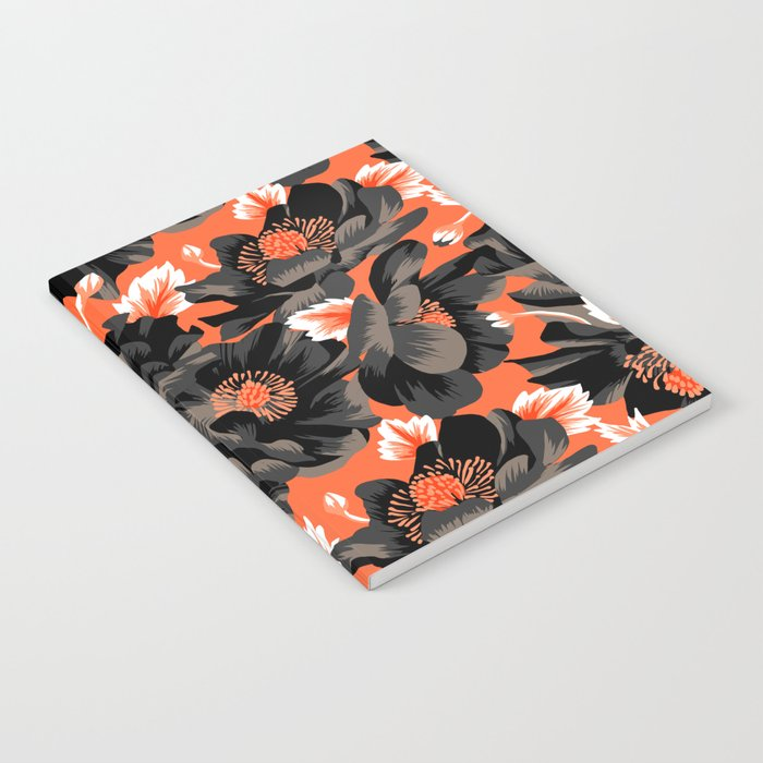 Mount Cook Lily - Orange/Black Notebook