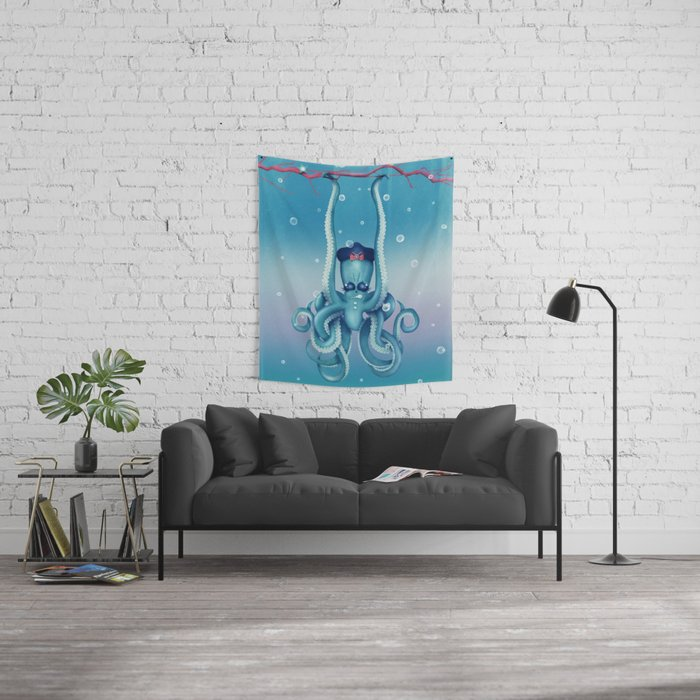 Octopus Dilemma Wall Tapestry