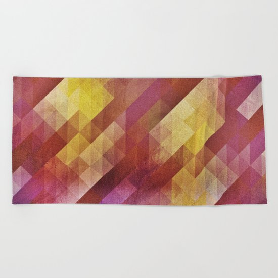 Fall pattern 2 Beach Towel