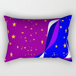 A Tranquil Night on the Water by the Moonlight Rectangular Pillow