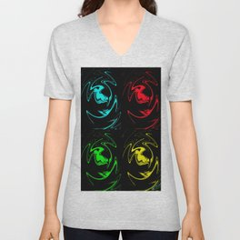 Abstract Perfection 41 Pop Art Unisex V-Neck