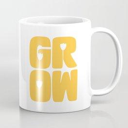 Grow Typography Coffee Mug