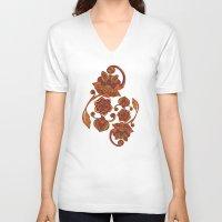 boho V-neck T-shirts featuring Boho Flowers by Valentina Harper