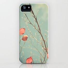 The Winter Days of Autumn iPhone Case
