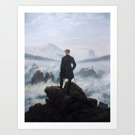 Wanderer above the Sea of Fog (High Resolution) Art Print