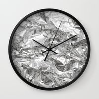 silver Wall Clocks featuring Silver by RK // DESIGN