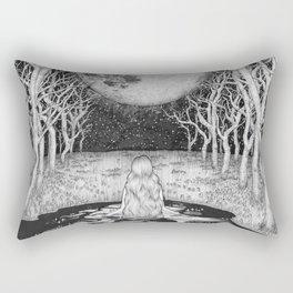 The Moonlight Bather Rectangular Pillow