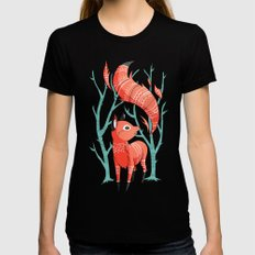 Winter Fox Black Womens Fitted Tee SMALL