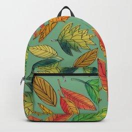 Fall Foliage Leaf Pattern Backpack
