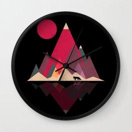 Fox Lands Wall Clock