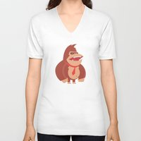 donkey kong V-neck T-shirts featuring Donkey Kong Tribute by Joseph Le